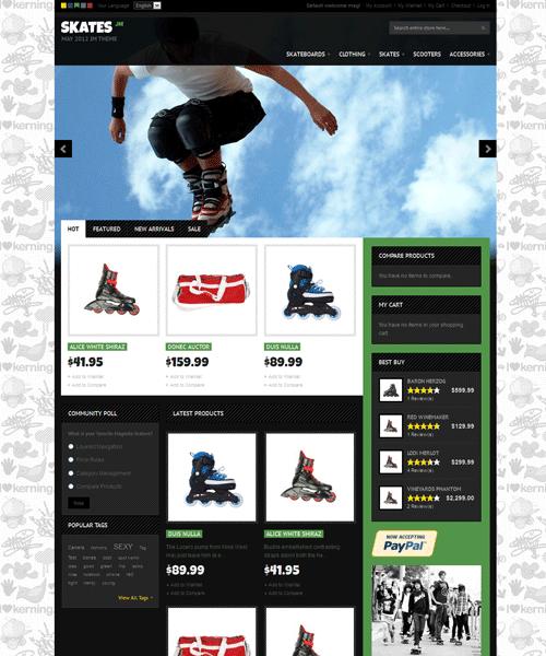 JM Skates Magento Sports Gear Theme