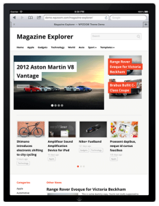Magazine Explorer WordPress Responsive Theme