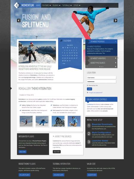 Momentum WordPress Gallery Theme