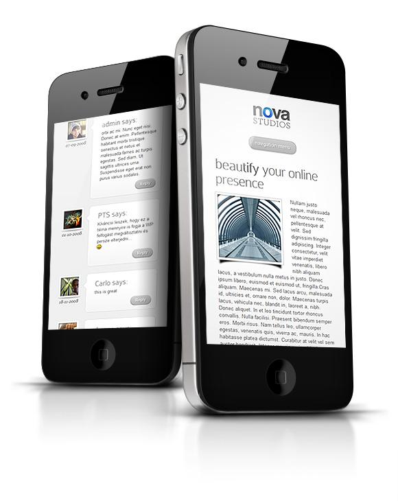 Nova WP Theme iPhone View