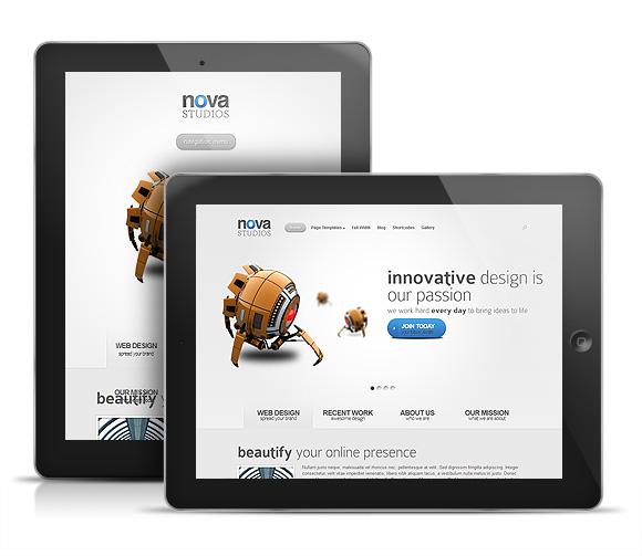 Nova WordPress Theme iPad View