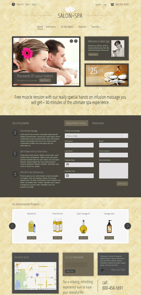 Salon n Spa Responsive Joomla Template