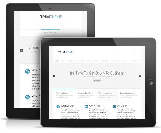 Trim WordPress Responsive iPad Theme