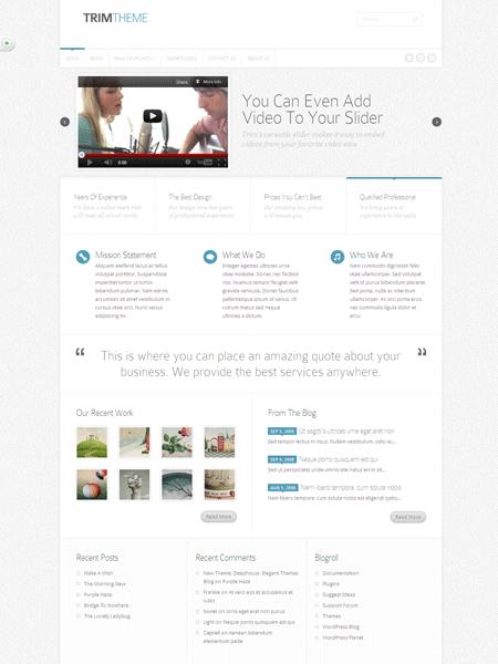 Trim WordPress Web Design Theme