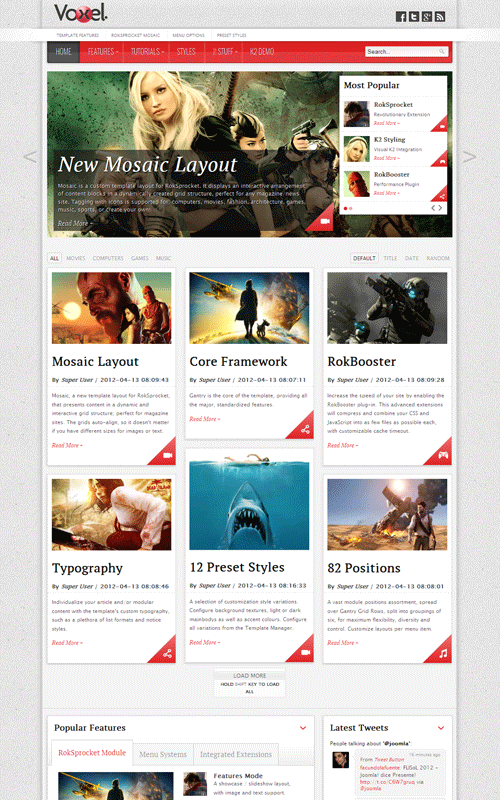 Voxel Joomla Reponsive Magazine Template