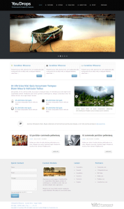 YouDrops Joomla Web Portfolio Template for Handheld Devices