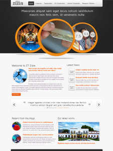 ZT Zizia Free Joomla 2.5 Business Template for Smartphone Ready!