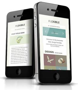 Flexible Responsive WP iPhone Theme