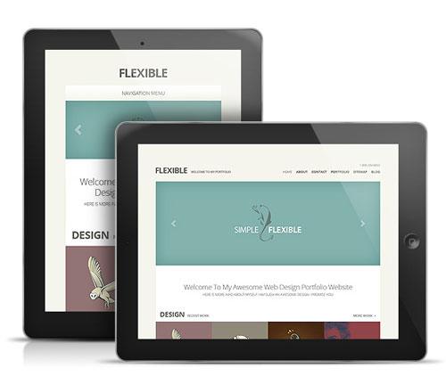 Flexible Responsive iPad Theme