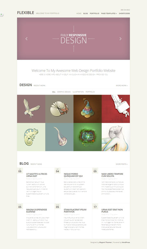 Flexible WordPress Ajax Portfolio Theme