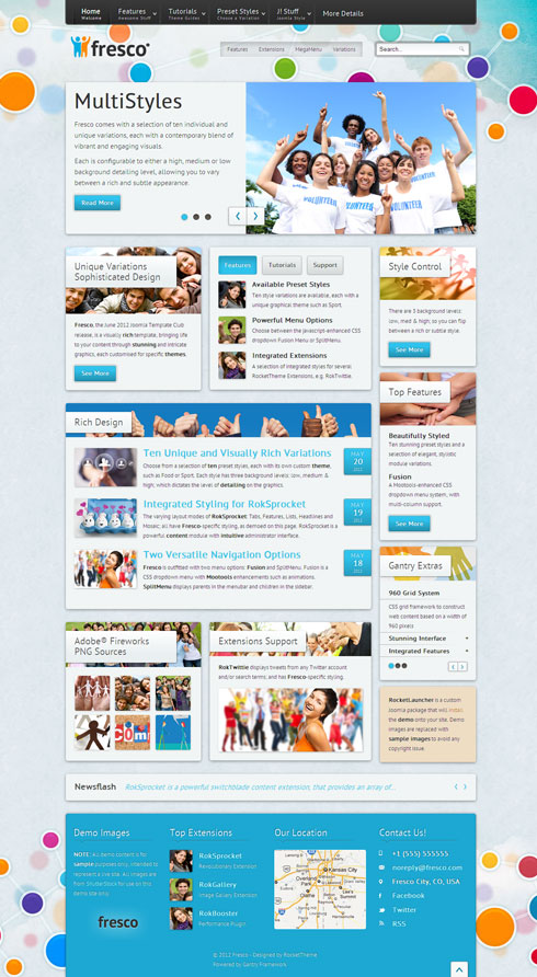 Fresco Joomla Community Template