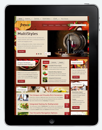 Fresco Joomla iPad Template