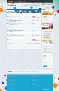 Fresco phpBB3 Style Template for Sports, Travel, Game, Social Networking or Community