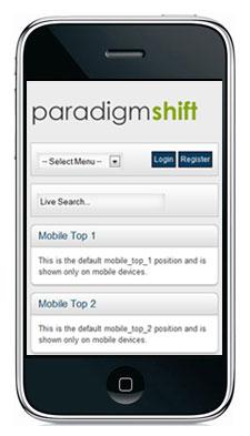 Paradigm Shift iPhone Theme