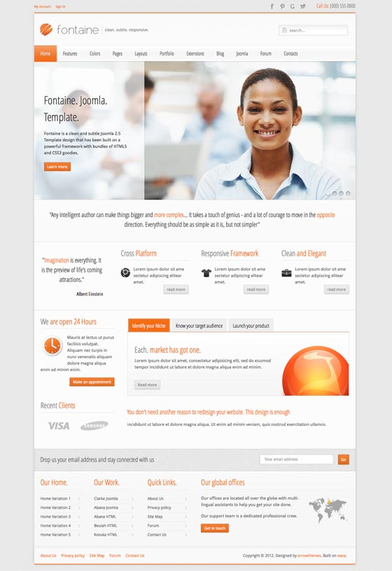 Fontaine Joomla Business Template