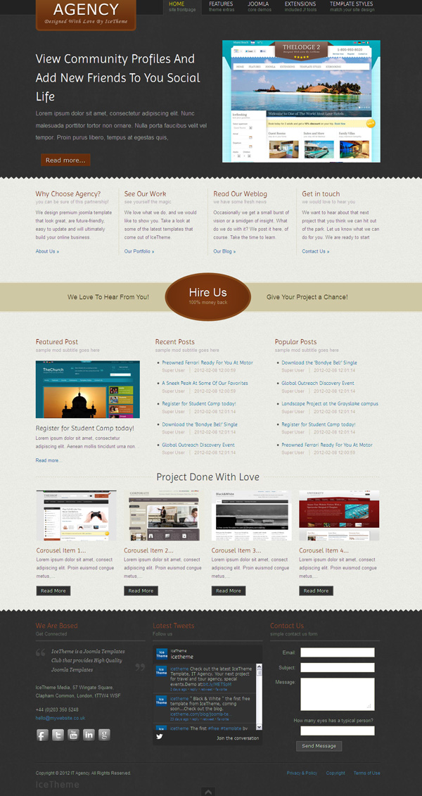 IT Agency Joomla Travel Template