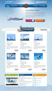 JM Cool Waters Joomla Template for Sailing Cruises, Boats & Scuba Diving