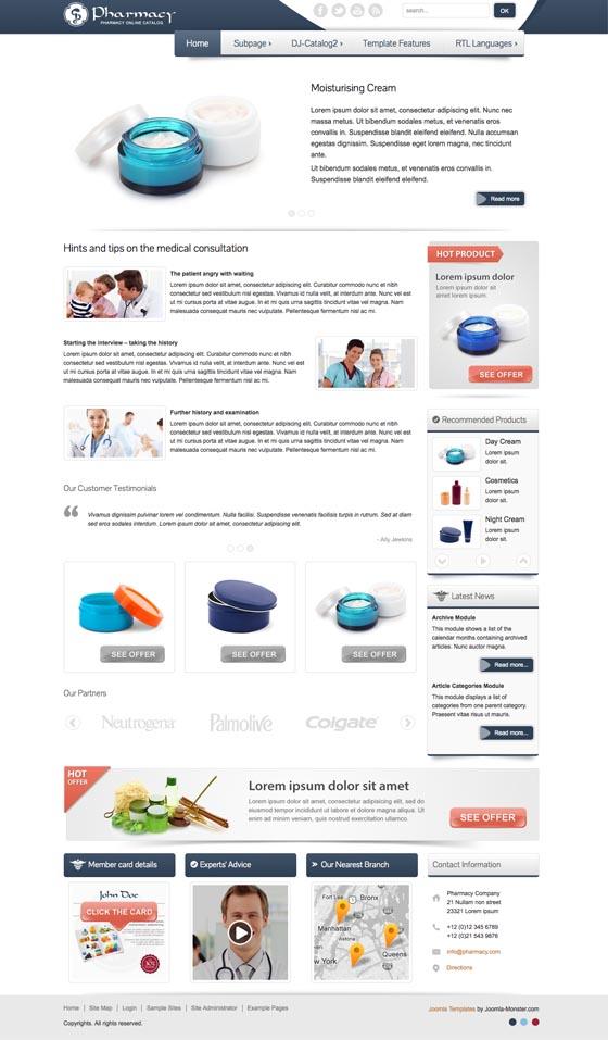 JM HCT Pharmacy Joomla Template