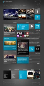 Metro Shows Responsive Joomla Template