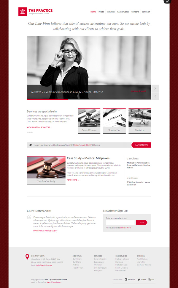 The Practice WP Law & Legal Consulting Theme