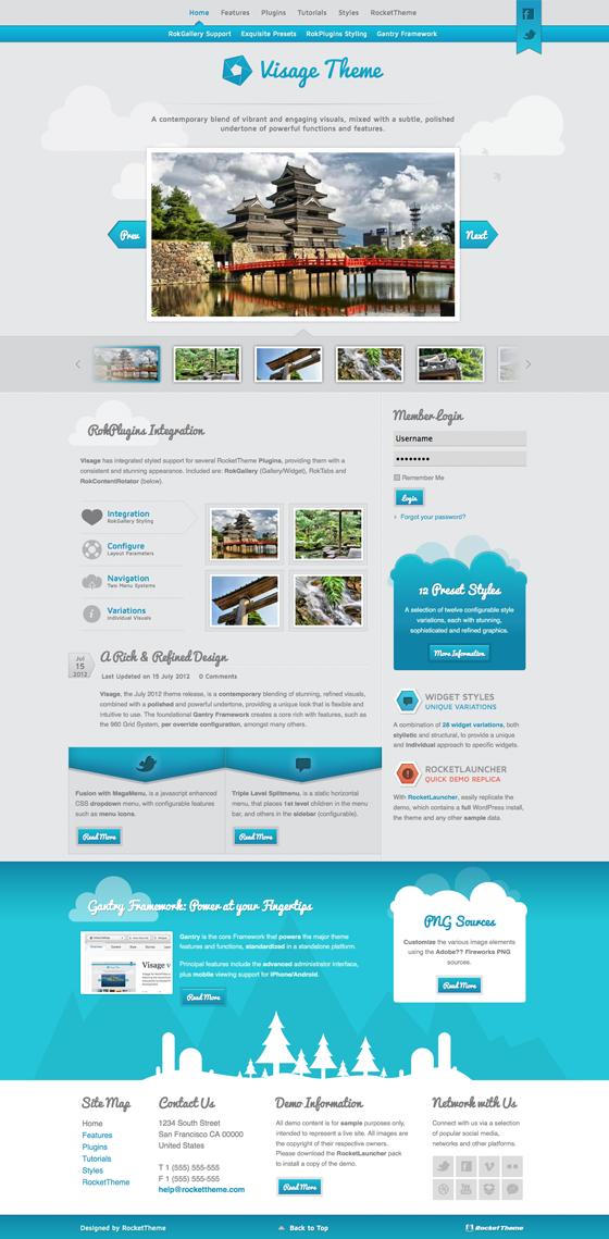 Visage Responsive WordPress Theme for Photo Gallery & Portfolio Showcase