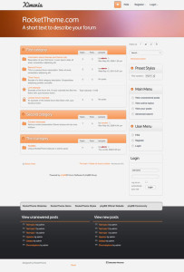 Ximenia phpBB3 Style Theme for Corporate Style Community Sites