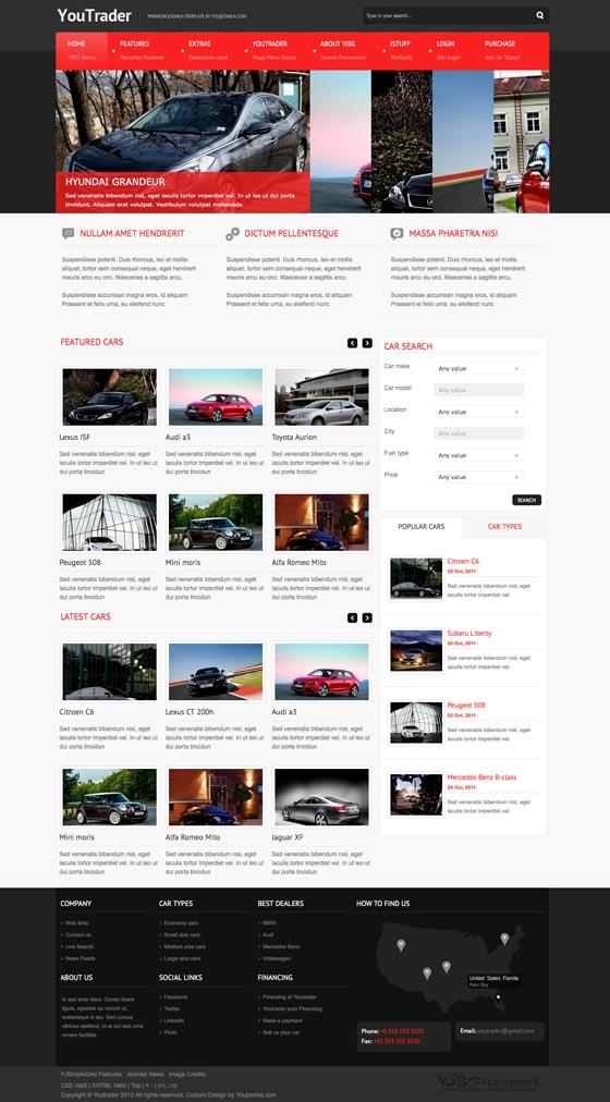 YouTrader Responsive Joomla Car Template
