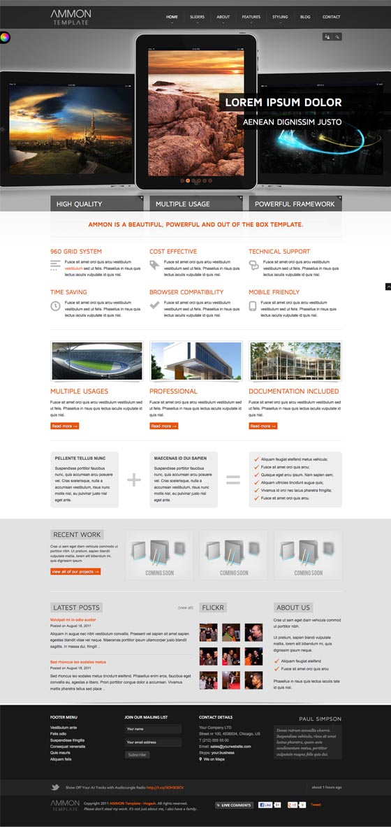 Ammon Joomla Mobile Template