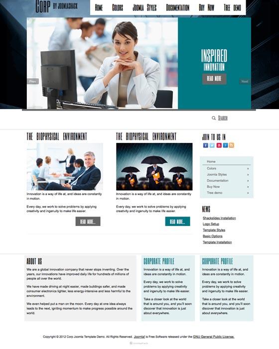 Corp Joomla Business Template