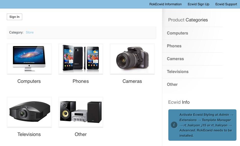 Ecwid eCommerce Theme