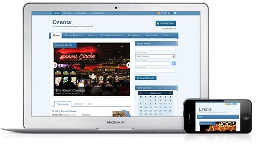 Events V2 Responsive WordPress Theme