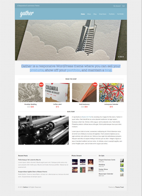 Gather Responsive WordPress eCommerce Theme