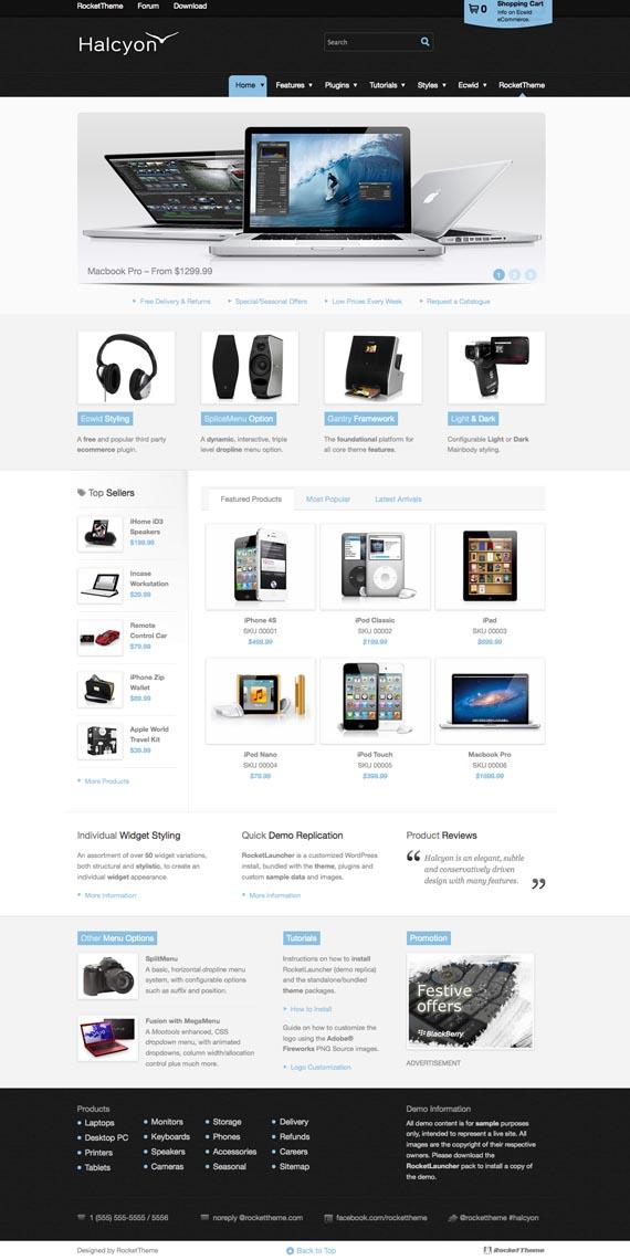 Halcyon Responsive WordPress eCommerce Theme