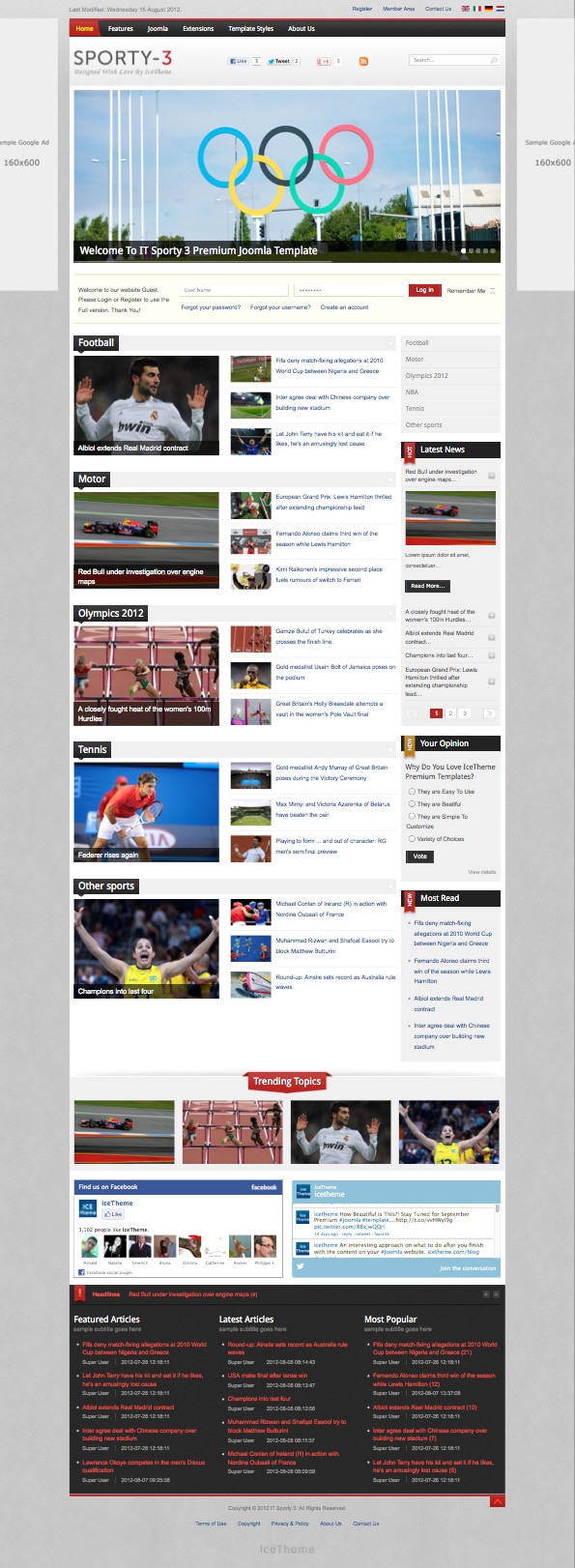 IT Sporty 3 Joomla Template