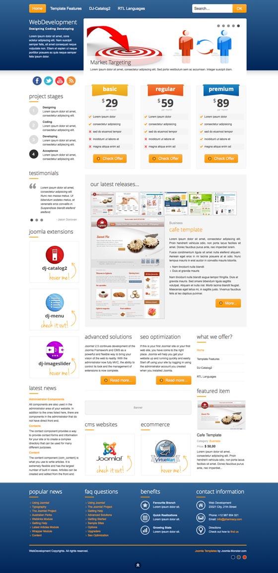 JM Web Development Responsive Joomla Template
