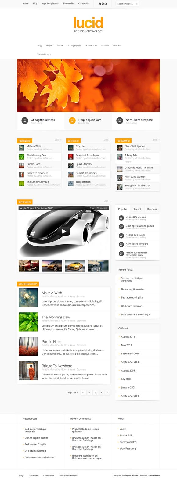 Lucid WordPress Magazine Theme