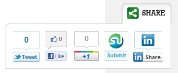 WP Slick Social Share Buttons