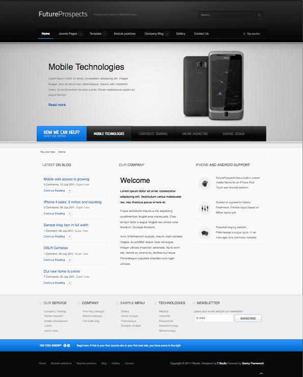 5 best joomla templates for business purpose futureprospects joomla template flashek Images