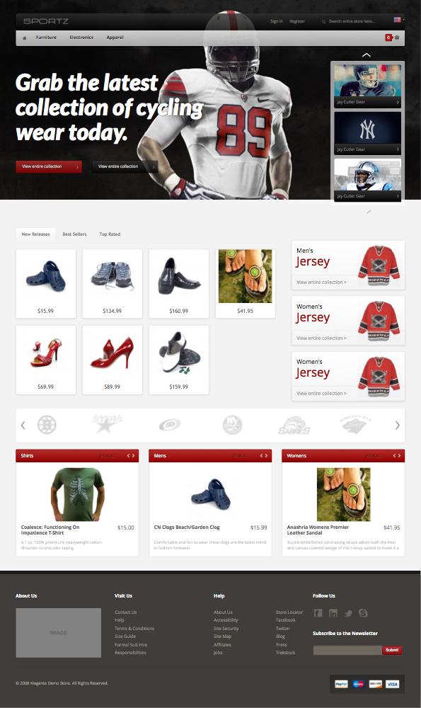 HelloSportz Responsive Magento Sports Theme