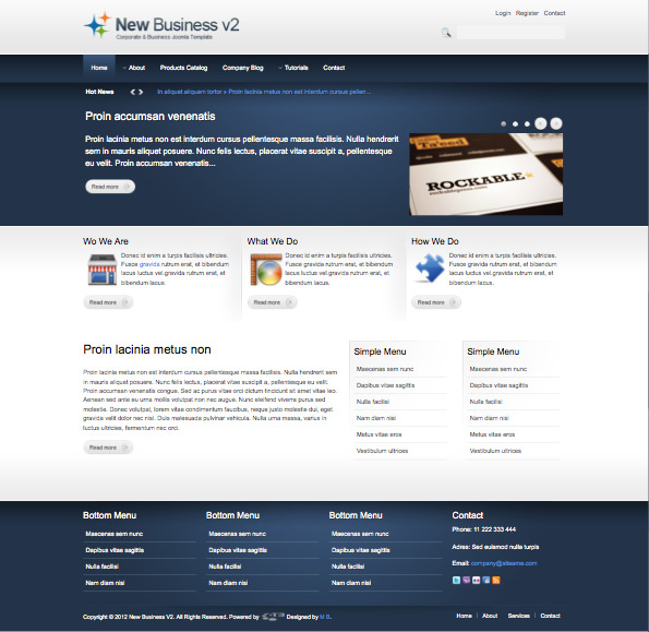 New Business v2 Joomla Template