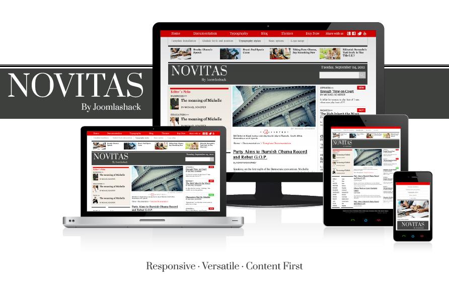 Novitas Joomla Mobile Template