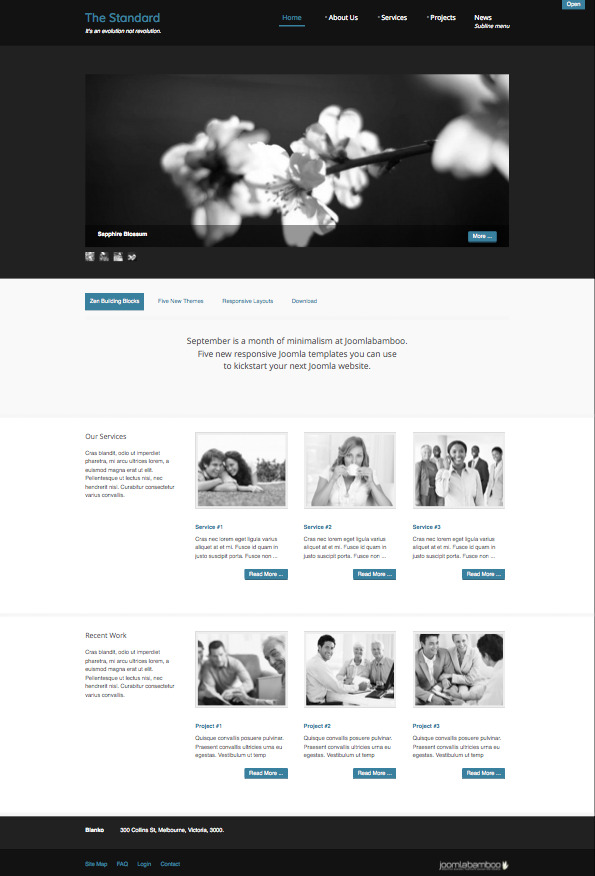 The Standard Responsive Joomla Template