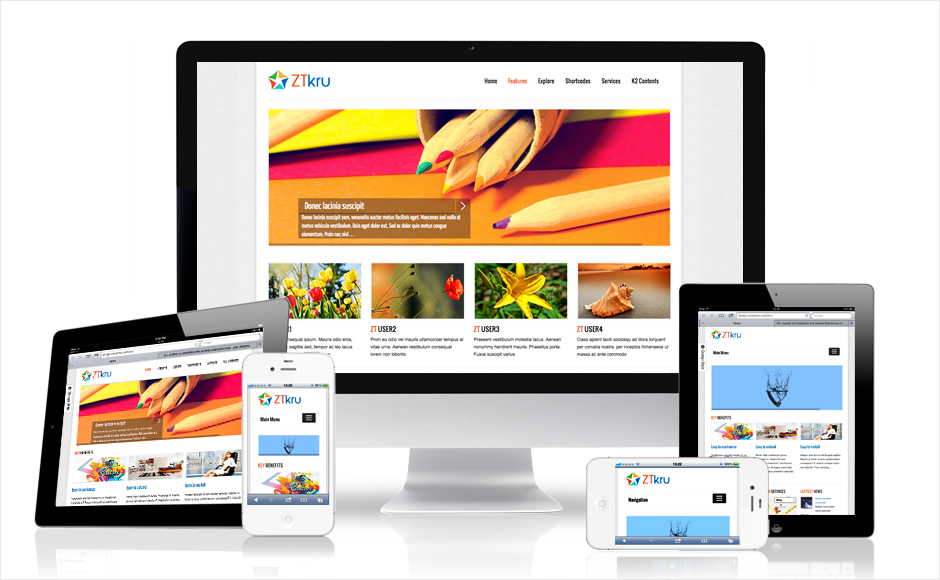 ZT Kru Responsive Joomla Template for Businesses & Portfolio Work