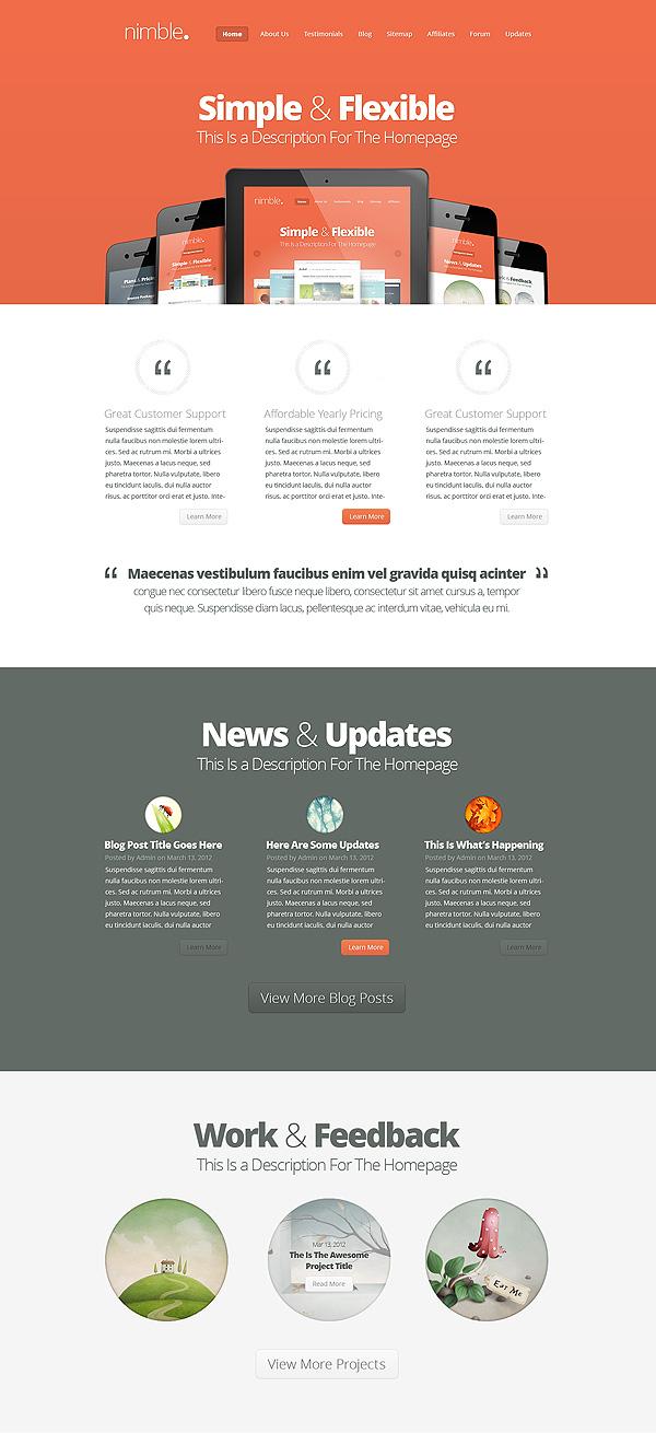 Nimble WordPress Portfolio Theme