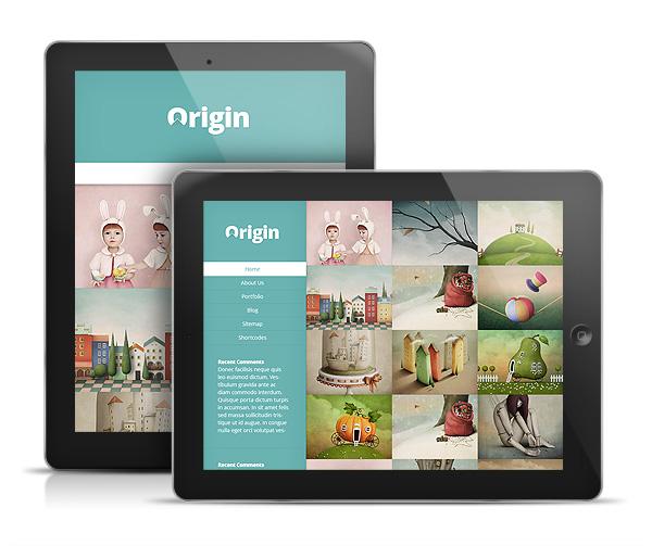 Origin Responsive iPad WordPress Theme