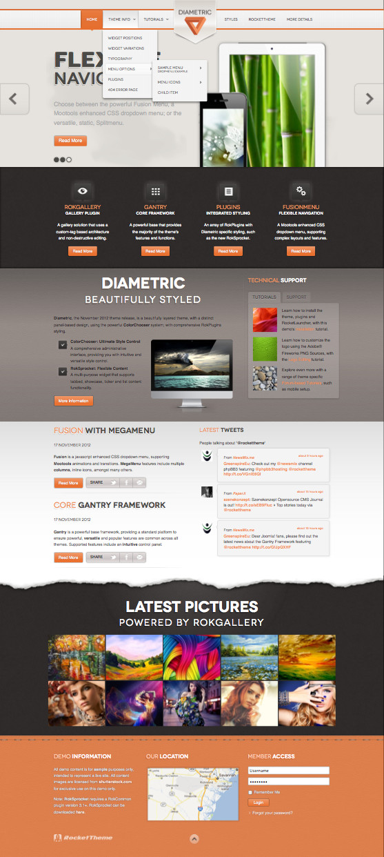Diametric WordPress Web Designer Theme