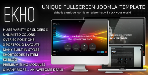 EKHO Fullscreen Joomla 2.5 Template