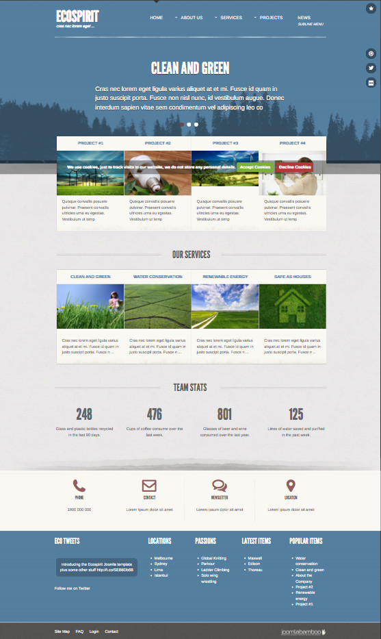 Ecospirit Joomla Corporate Template