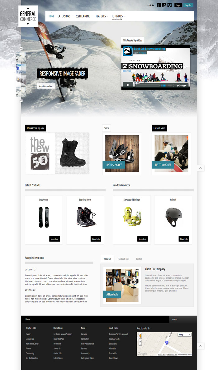 General Commerce Joomla eCommerce Store Template