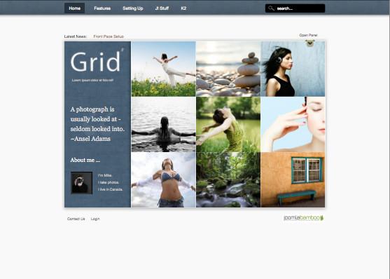 Grid 2 Joomla Magazine Template